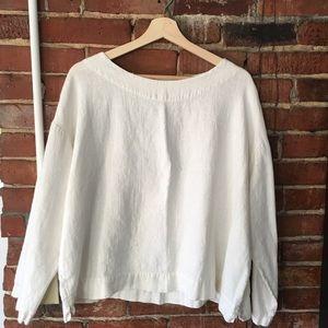 Bryn walker long sleeve linen blouse small